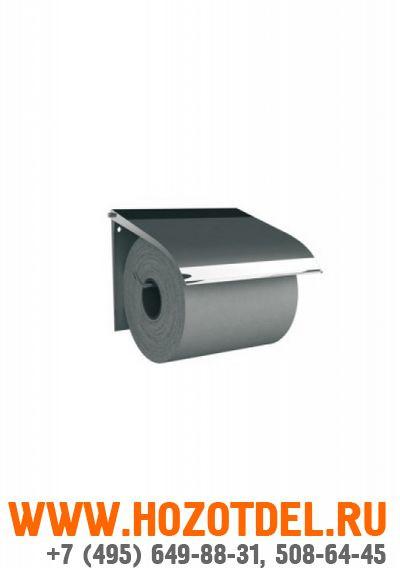 Держатель туалетной бумаги для бытовых рулонов полированный металл., фото