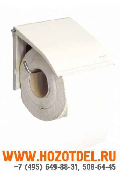 Держатель туалетной бумаги для бытовых рулонов эмалированный., фото