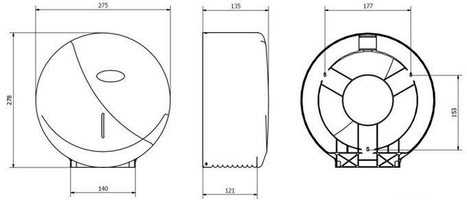 Диспенсер для туалетной бумаги Jofel AE58300, фото