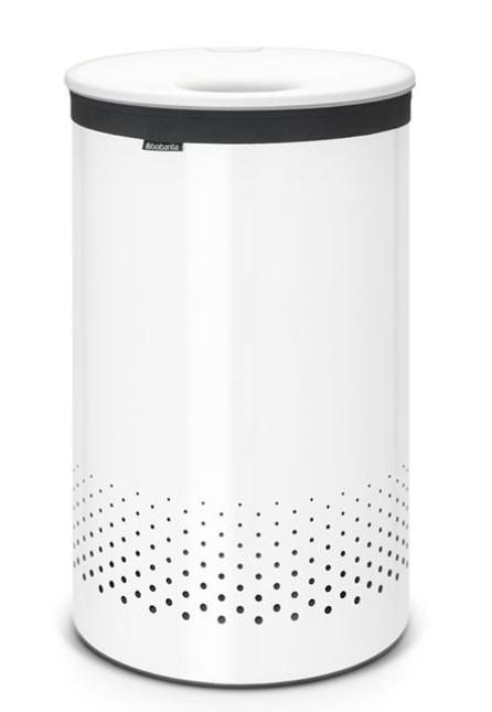 Бак для белья с пластиковой крышкой 60 л (Белый), фото
