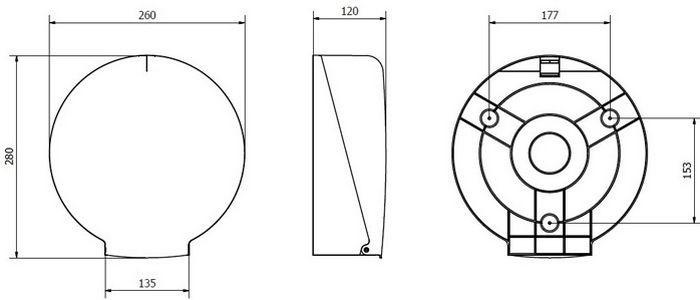 Диспенсер Jofel для бумаги в рулонах мини-Джамбо (AE52400), фото