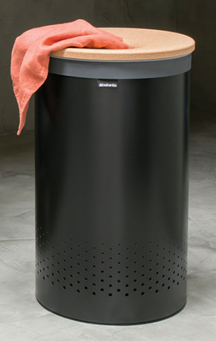 Бак для белья с пробковой крышкой 60 л (Белый), фото