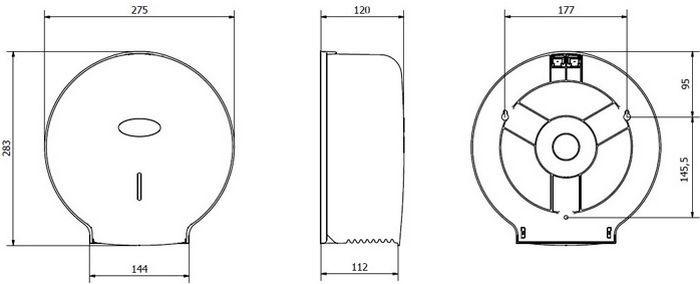 Диспенсер для туалетной бумаги, арт.AE57600 (пластик), фото