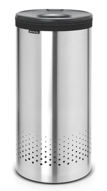 Бак для белья с пластиковой крышкой 35 л (Сталь (матовая)), фото