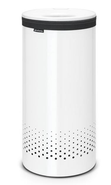 Бак для белья с пластиковой крышкой 35 л (Белый), фото