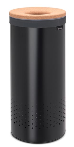 Бак для белья с пробковой крышкой 35 л (Черный), фото