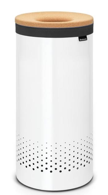 Бак для белья с пробковой крышкой 35 л (Белый), фото