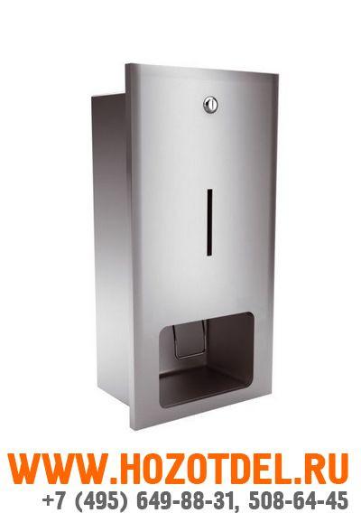 Дозатор жидкого мыла матовый, встраиваемый в стену., фото
