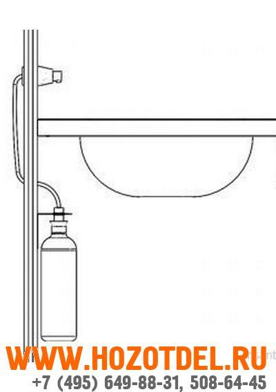 Дозатор жидкого мыла , монтируемый на стену , конус. (МАТОВЫЙ), фото