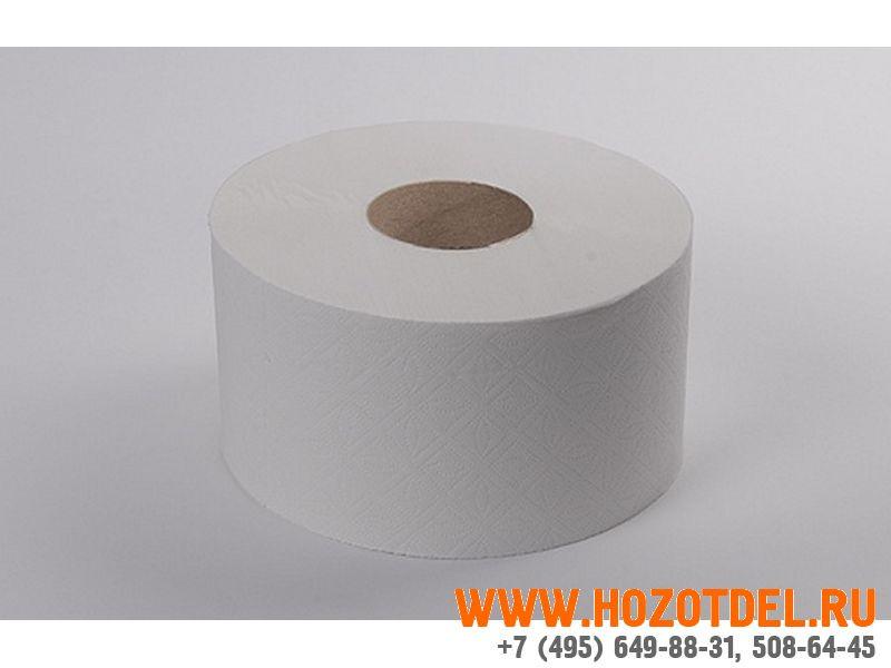 Туалетная бумага 200 метров, 2-х слойная, втулка 6 см, (210225)., фото
