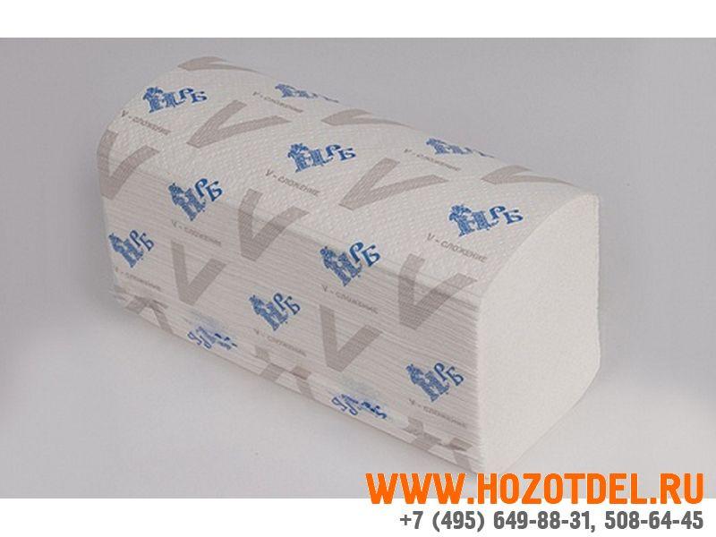 Листовые полотенца V сложения, однослойные (25V125)., фото
