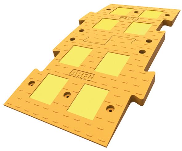 Фото - Искусственная неровность ИДН 1100 средний желтый из 2 частей