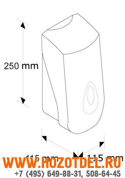 Дозатор картриджный MERIDA TOP III (Серая капля)., фото