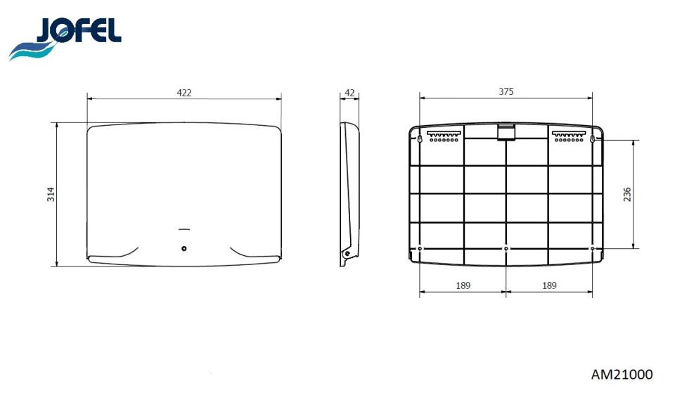 Jofel AM21000 Диспенсер для покрытий на унитаз, фото