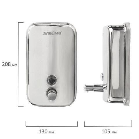 Дозатор для жидкого мыла ЛАЙМА Economy, 1 литр, фото